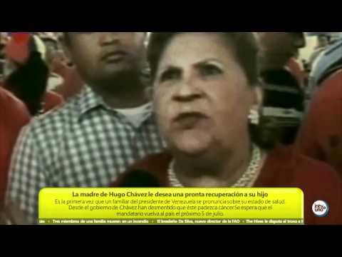 MUERE HUGO CHAVEZ 5/3/2013 - LA MADRE DE CHAVEZ DESEA ANTE LOS MEDIOS QUE SU HIJO MEJORE