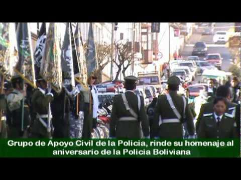 de la Policia Boliviana 2010, un video sobre grados-militares-de
