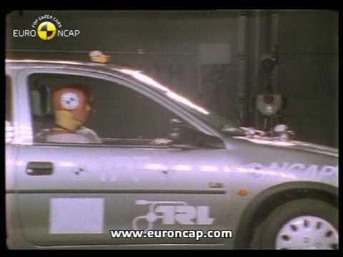 Opel/Vauxhall Corsa euroncap çarpışma / güvenlik testi videosu