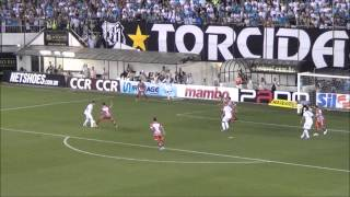 O Santos venceu o Botafogo-SP, por 3X0. Gols de: Neymar, Cicero e Miralles