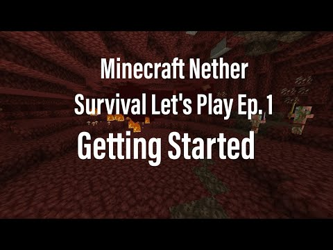 Minecraft Pocket Edition Nether survival Let's Play Ep. 1 Getting started