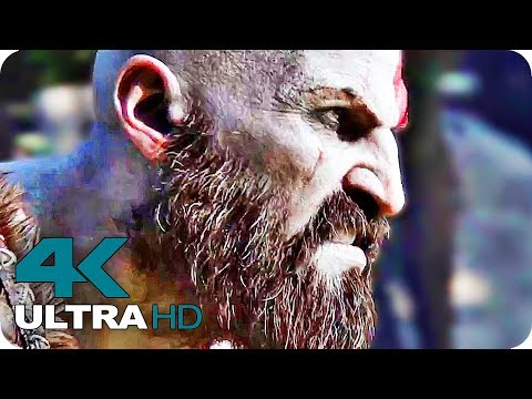 God of War 4 Trailer Compilation 4K Ultra HD (2018)