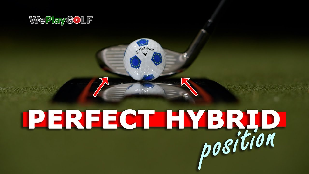 How to set your hybrid on the ground at address