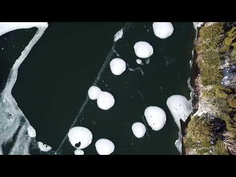 結氷し始めた湯ノ湖