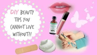 DIY Beauty Tips You Can't Live Without!! - YouTube