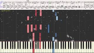 Падает снег - Би-2 и Ю.Чичерина (Ноты и Видеоурок для фортепиано) (piano cover)