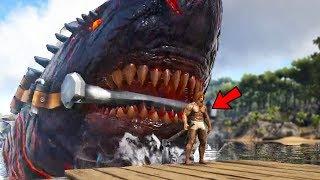 Ark Survival Evolved - GIANT NEW COLOSSUS MEGALODON BOSS SHARK! - Ark Modded Gameplay