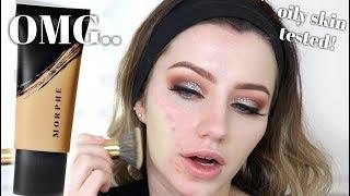 MORPHE FLUIDITY FULL COVERAGE FOUNDATION REVIEW! Oily Skin | Jazzi Filipek