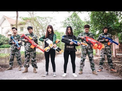 Video Nerf War S.W.A.T 😎 Army Girl Nerf Guns Enemy Group Hitman Rescue Girlfriend Nerf Movie download in MP3, 3GP, MP4, WEBM, AVI, FLV January 2017