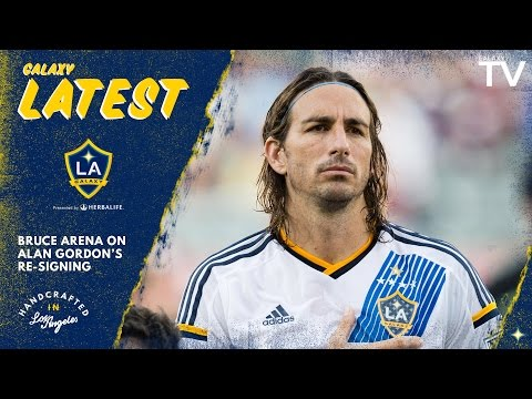 "Video: Bruce Arena on Alan Gordon's re-signing: ""We're real happy to have him with us"" 