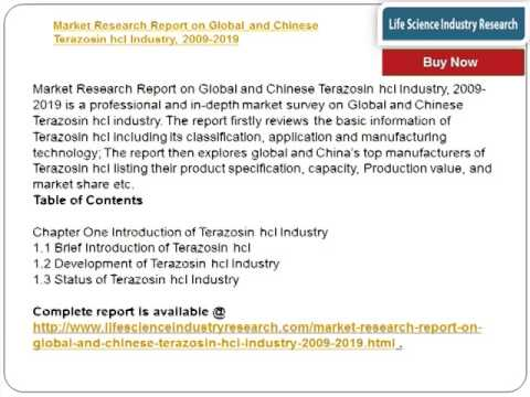 Global and Chinese Terazosin hcl Industry 2019 Research Report