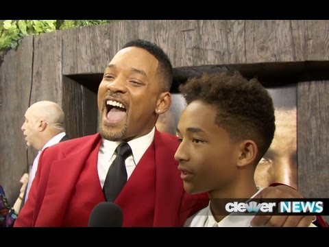 Will Smith and Jaden Smith After Earth Premiere – FUNNY INTERVIEW!