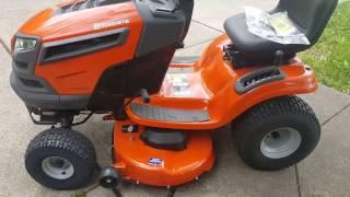 5. My New Husqvarna Lawn Tractor walk around & start