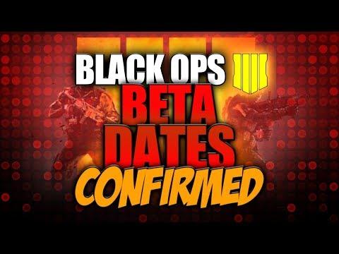 Black Ops 4 BETA DATES! BO4 Blackout / Multiplayer BETA!
