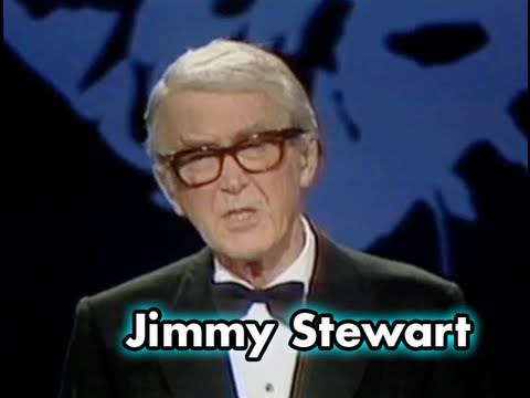 Jimmy Stewart Accepts AFI Life Achievement Award in 1980