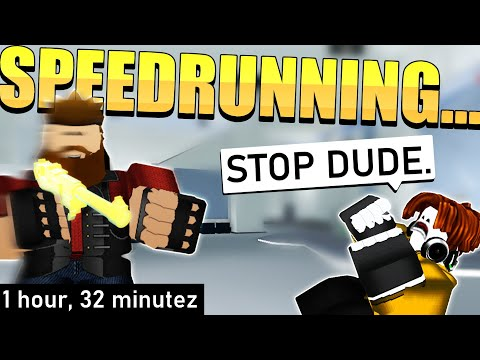 I TRIED SPEEDRUNNING ARSENAL! I GOT A WORLD RECORD... for worst attempt (Arsenal Roblox)