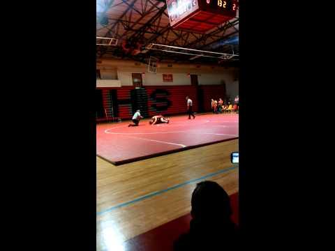 Dylan wrestles