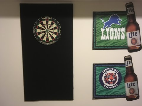DIY $25 Dartboard Back Cheap How to Do for Mancave