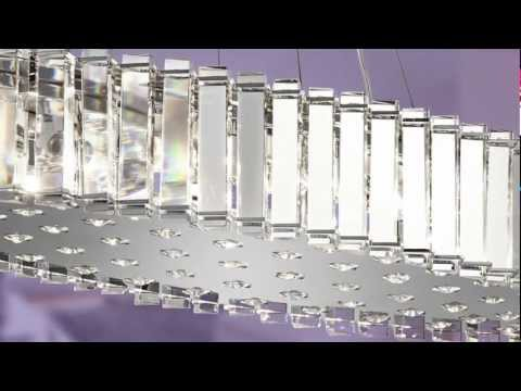 Video for Crystal Skye Chrome Eight-Light Pendant Crystal