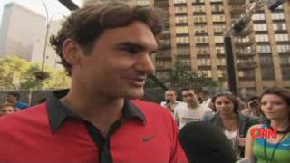 CNN's Richard Roth talks to Roger Federer as he prepares to play his 6th U.S. Open, his first as a dad to twins.