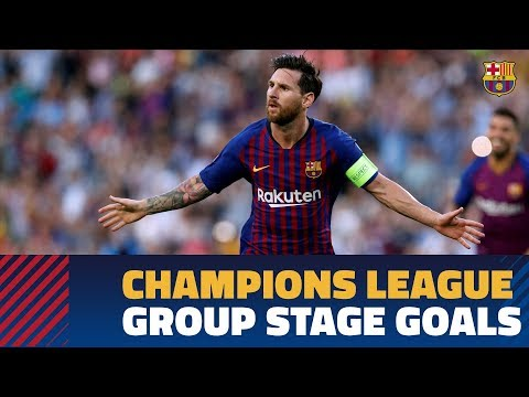All Barça's Goals From Group B Of The 2018-19 UEFA Champions League