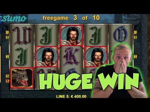 Online Slot - Dragons Treasure Big Win and bonus round (Casino Slots) Huge win