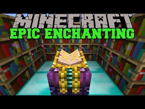 Minecraft: EPIC ENCHANTING MOD (BETTER ENCHANTMENTS, CHOOSE ENCHANTS) Mod Showcase