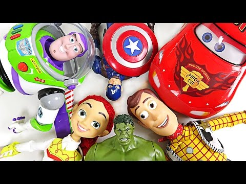 Suddenly, Hulk, Captain America, Toy Stoty, Disney Car Toys Grow Bigger And Talk! - Dudupoptoy