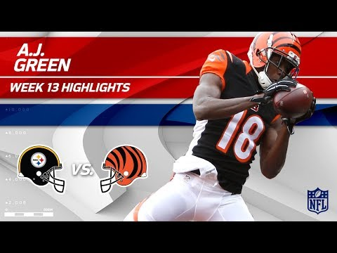 Video: A.J. Green Grabs 2 TDs vs. Pittsburgh! | Steelers vs. Bengals | Wk 13 Player Highlights