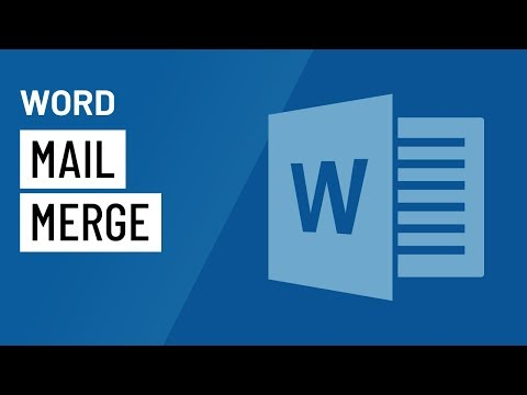 Word 2016: Mail Merge