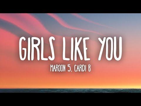 Video Maroon 5, Cardi B - Girls Like You (Lyrics) download in MP3, 3GP, MP4, WEBM, AVI, FLV January 2017