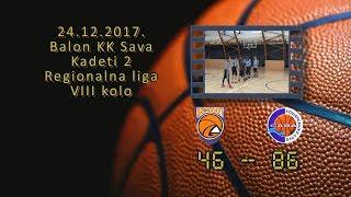 kk gro basket kk sava2 46 86 (kadeti 2, 24 12 2017 ) košarkaški klub sava