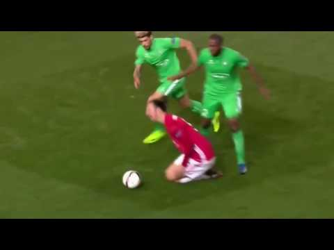 Zlatan Ibrahimović GOAL, Hattrick - Manchester United vs Saint Etienne 3:0