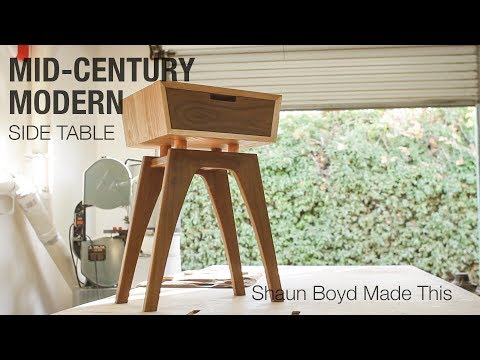 Building a Midcentury Modern Side Table - Shaun Boyd Made This