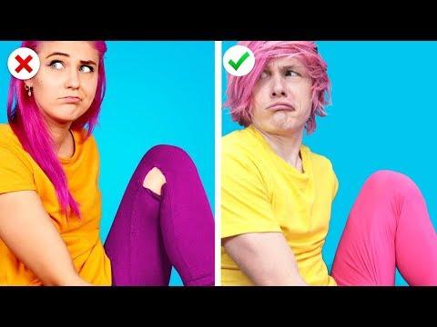 Trying 11 Fun DIY Clothing and Fashion life Hacks by Crafty Panda
