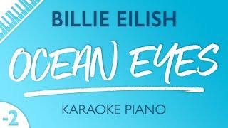 Ocean Eyes (Lower Key - Piano Karaoke Instrumental) Billie Eilish