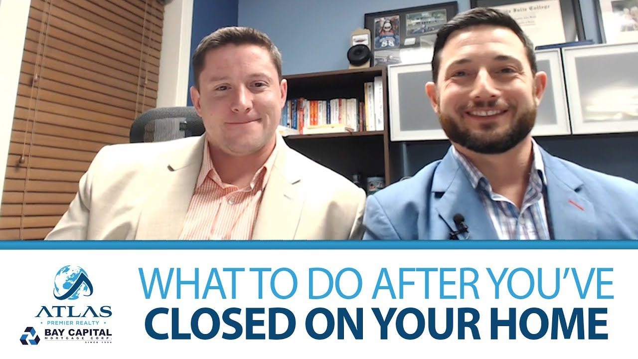So You've Successfully Closed on Your House: What's Next?