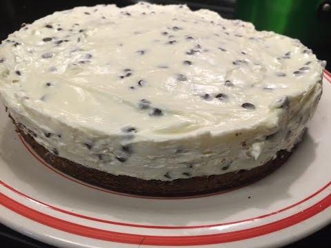 Chocolate Chip Cheesecake with Brownie Crust- HHH