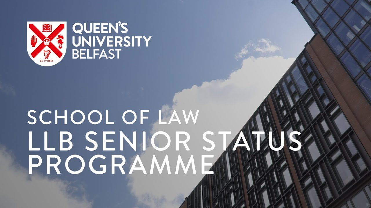 Video Thumbnail: School of Law, LLB Senior Status Programme