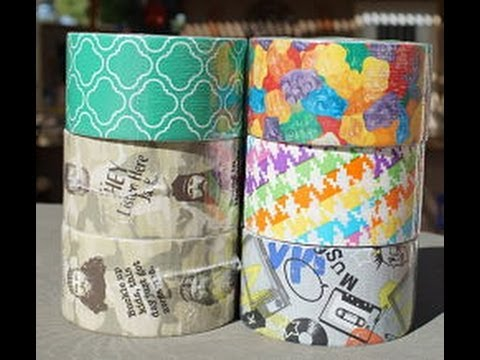 Duct Tape Wallets | Duck Dynasty, Gummy Bears, Neon Houndstooth, Emerald Tiles, Punk Music Duct Tape