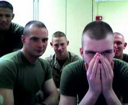 MARINES 2 girls 1 cup reactions!!
