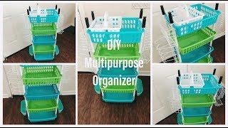 Dollar Tree DIY Kitchen Organizer Craft Organizer Pantry Organizer and More! (Starts at $8)
