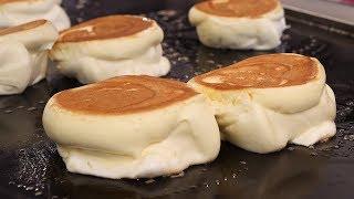 Video egg souffle pancake (촉촉한 수플레 팬케이크, パンケーキ, 餅子 12,000KRW) korean street food / 강남역 19티 MP3, 3GP, MP4, WEBM, AVI, FLV Juli 2019
