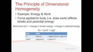 Fluids - Lecture 4.1 - Dimensional Analysis