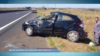 Em menos de 24 horas duas pessoas morrem em acidentes na região de Marília