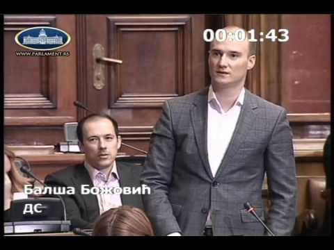 Балша Божовић у Скупштини о амандманима на Предлог измена Закона о здравственој заштити