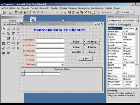 Curso Visual Basic 6 - VT16: Relacionando Tablas - Mantenimiento Completo de Clientes