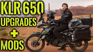 KAWASAKI KLR 650 UPGRADES AND MODS [Part 1]