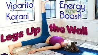 Beginners Yoga for Back Pain! Boost Energy & Mood with Legs Up the Wall Pose - YouTube