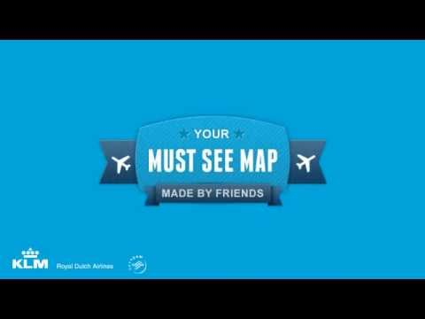 KLM Must See Map combineert social media met print